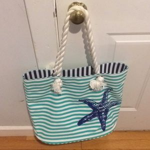 Punctuate like new canvas beachbag
